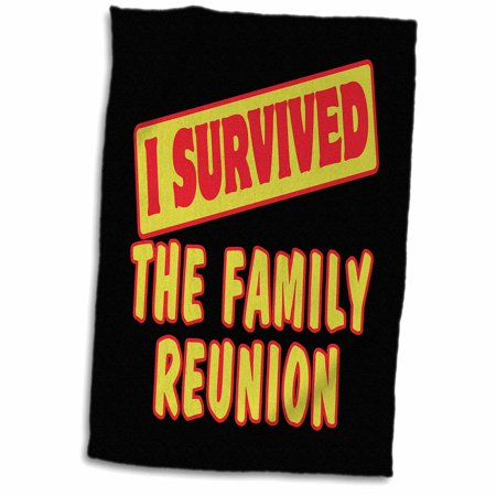 Family Reunion Designs (3dRose I Survived The Family Reunion Survial Pride And Humor Design - Towel, 15 by 22-inch)