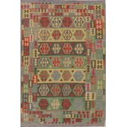 Kilim Turkish Flat Woven Southwestern 7x10 Hand-made Traditional Area Rug