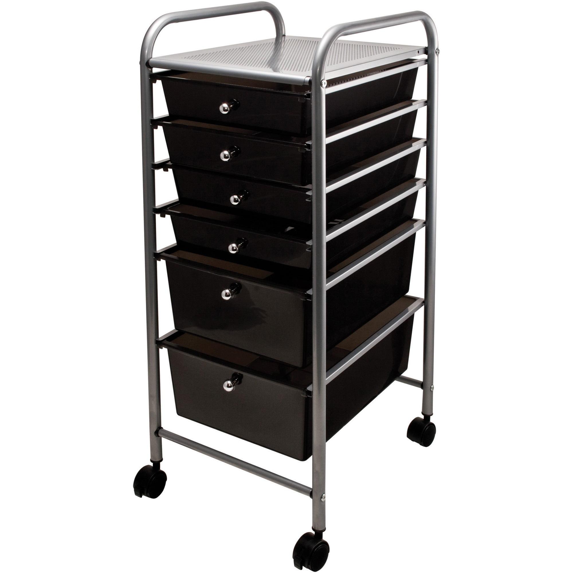 Advantus Portable Drawer Organizer, 13w x 15 3/8d x 32 1/8h, Smoke/Matte Gray