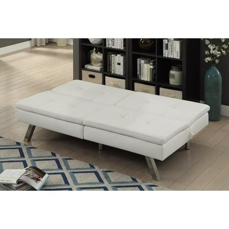 Furniture of America Michael Contemporary Tufted Futon Sofa Bed ...