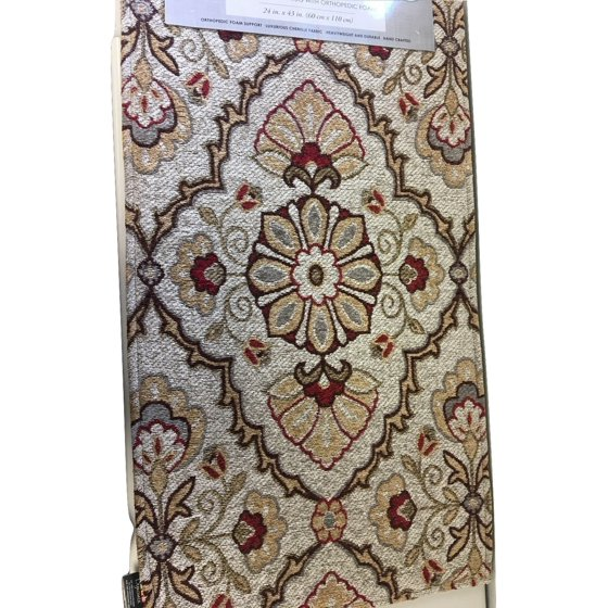 Cloudwalk Woven Tapestry Rug With Orthopedic Foam 43 L X 24 W Beige Fl