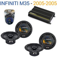 Fits Infiniti M35 2005-2005 Speaker Replacement Harmony (2) R65 & CX300.4 Amp - Factory Certified Refurbished