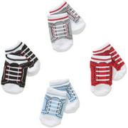 Newborn Baby Girl Sneaker Socks Set - 4 Pack