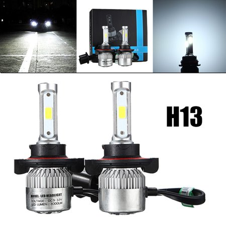 2x Car COB LED Headlight Kit Light Bulbs Night Lighting Car Driving Fog Light Lamp 72W 16000LM