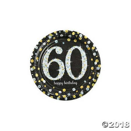 - Amscan 541547 Sparkling Celebration 60 Round Prismatic Plates Party Supplies, 7