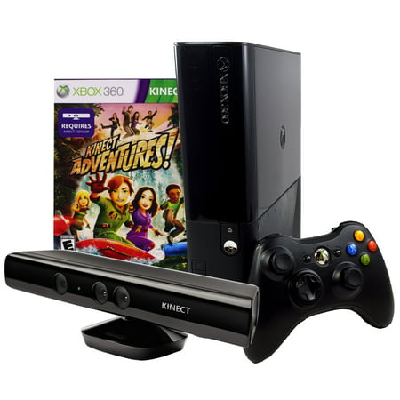 Refurbished Microsoft Xbox 360 E Slim 4GB Console with Kinect Sensor and  Kinect Adventures