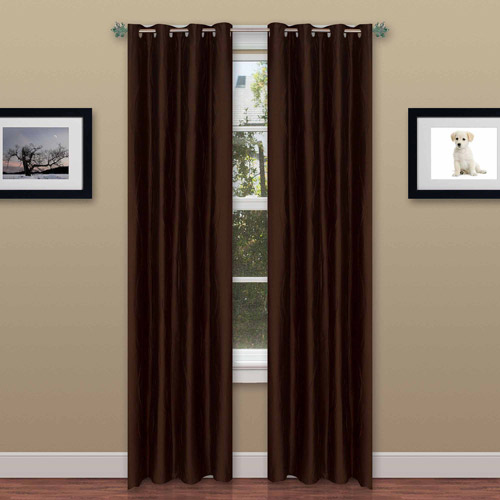 Somerset Home Wavy Polyester Curtain Panel Set with Grommets, Set of 2
