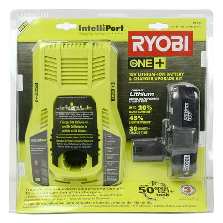Ryobi Tools P128 18V Lithium Ion Battery   Intelliport Charger Upgrade Kit
