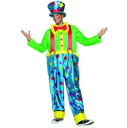 Star Clown Circus Man Costume Adult Standard - Circus Circus Halloween