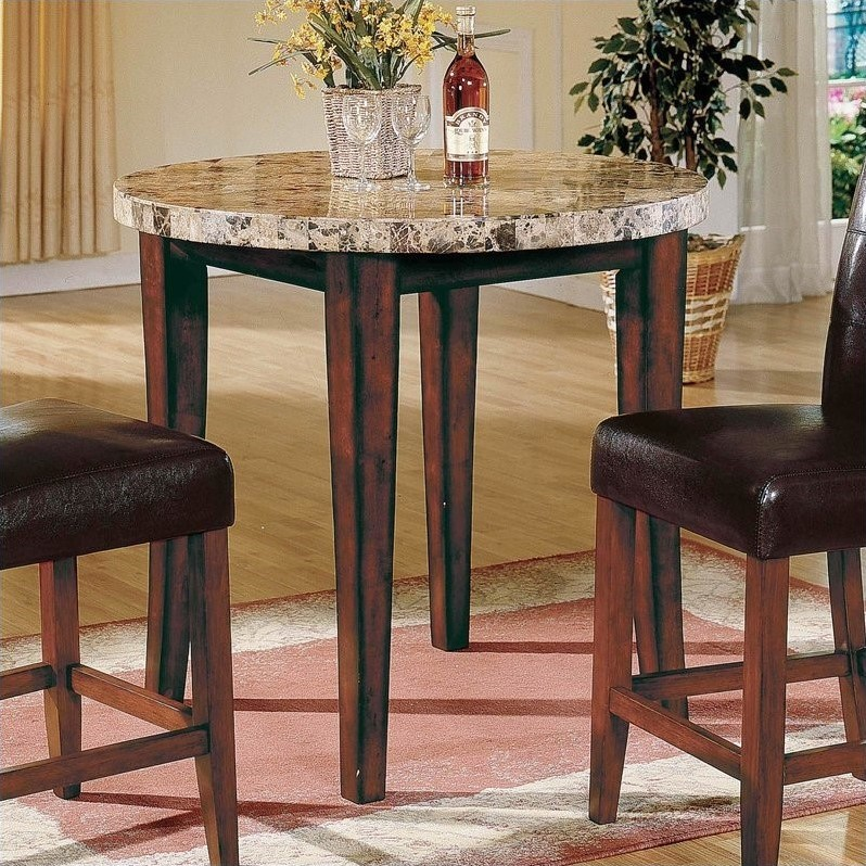Steve Silver Company Montibello Round Counter Height Dining Table in Rich Cherry Finish