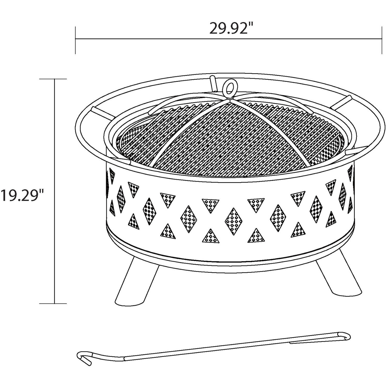 better homes gardens 28 lattice heavy duty fire pit walmart com rh walmart com