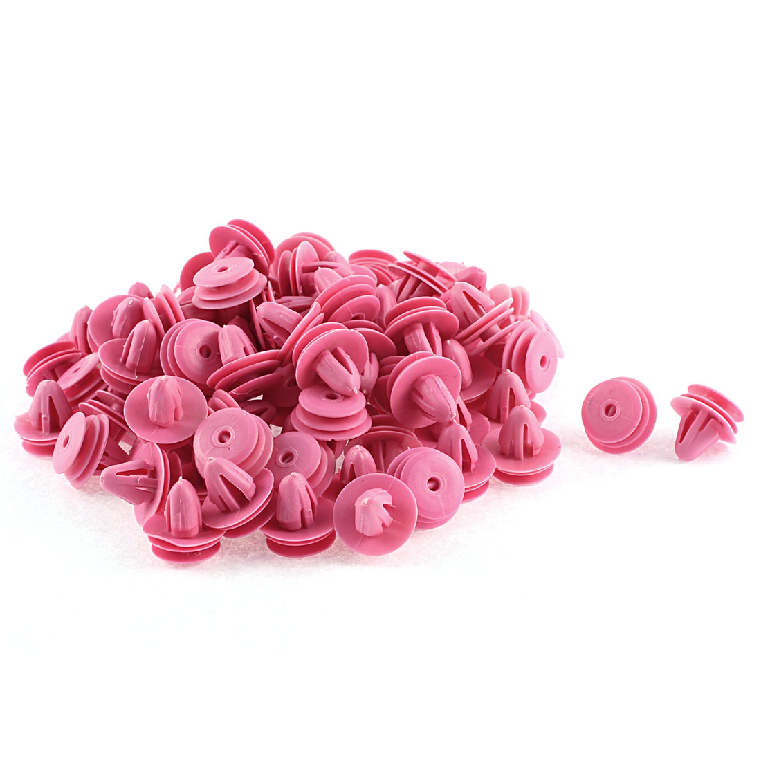 Unique Bargains 100 Pcs 10mm x 7.5mm Hole Fuchsia Plastic Rivets Fastener for Hyundai Elantra