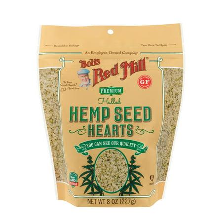 Red Hemp (Bobs Red Mill Hemp Seeds Hulled, 8 Oz )