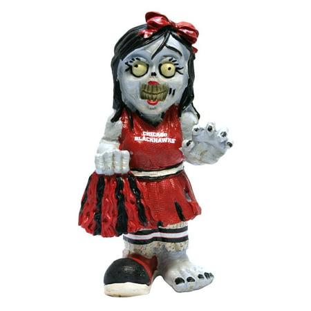 Chicago Blackhawks Zombie Cheerleader Figurine