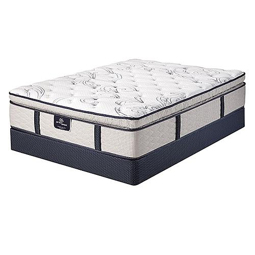 Serta Perfect Sleeper Green Acres Cal King Size Super Pillow Top Mattress Set