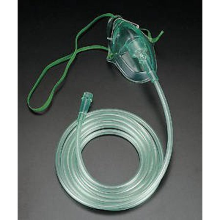 CareFusion 001201 Adult Oxygen Mask w/7 Foot of tubing, Medium concentration O2 Mask By AirLife Ship from US