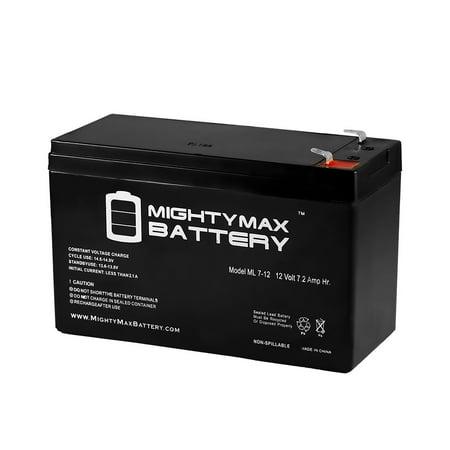 12V 7.2AH SLA Battery Replaces Lowrance Elite-3x