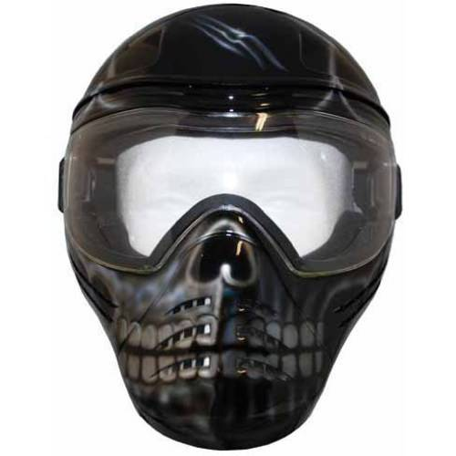 Save Phace Tagged Series Scar Mask with Custom Skull Graphic, Black