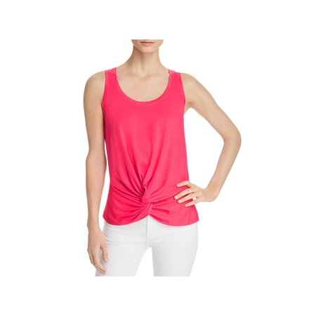 7 For All Mankind Womens Twist Front Scoop Neck Tank Top