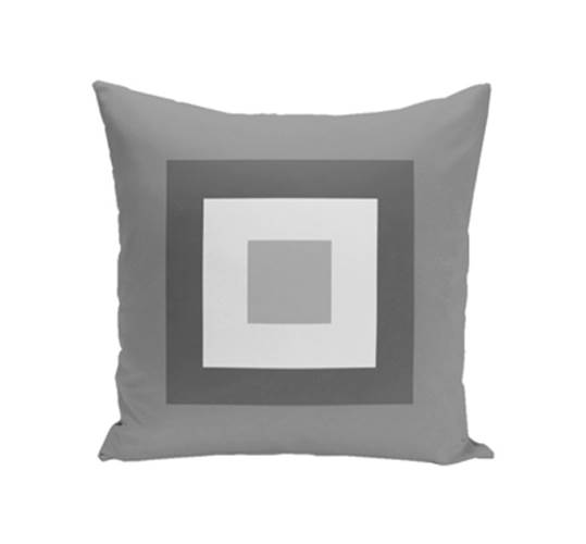 Geometric Decorative Pillow in Classic Rain (16 in. L x 16 in. W)