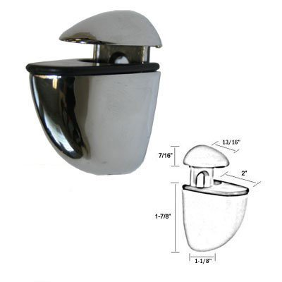 Allied Polished Shelf - Polished Chrome Finish Midi Adjustable Glass Shelf Brackets - Pair