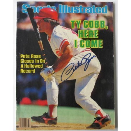 Pete Rose Cincinnati Reds Signed August 19, 1985 Sports Illustrated Magazine SI by