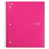 Wirebound Trend Notebook, 1 Subject, Wide/Legal Rule, Pink Cover, 10.5 x 8, 100 Sheets