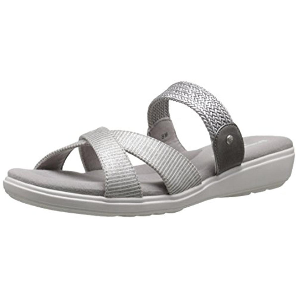 Grasshoppers Womens Finley Canvas Ortholite Slide Sandals by Grasshoppers