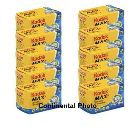 - 10 Rolls Kodak GC 135-24 Max 400 Color Print 35mm Film ISO 400