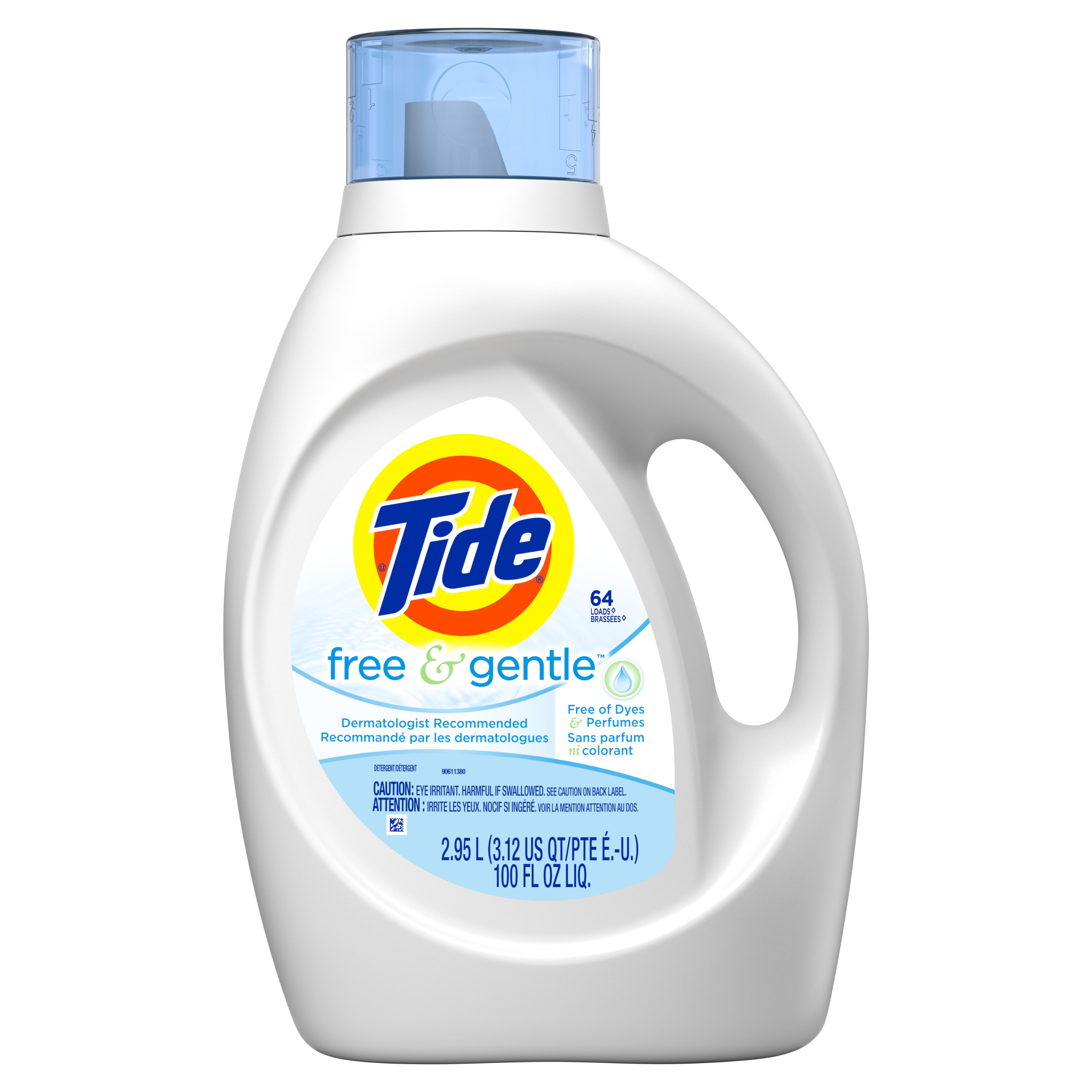Tide Free & Gentle Liquid Laundry Detergent 100 Fl Oz 64 Loads