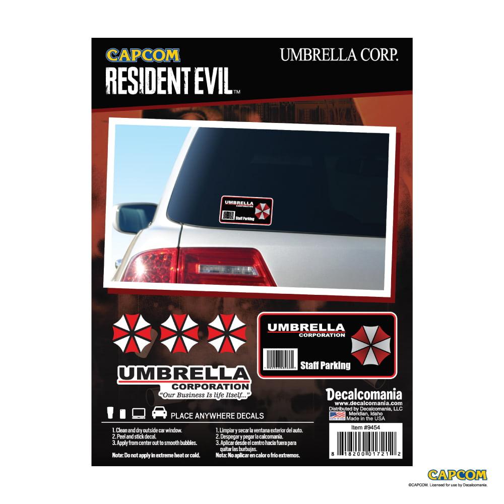 Resident Evil Umbrella Corporation Decal Staff Parking Sticker