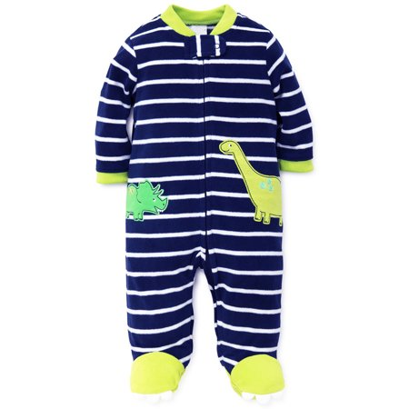 f42082c12 LTM Baby - Dinosaur Footed Newborn Blanket Sleeper Baby Pajamas Blue ...