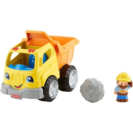 Fisher Price Little People Dump (Fisher-Price Little People Dump Truck, Press down on driver's seat for realistic truck sounds, fun phrases & music! By FisherPrice)
