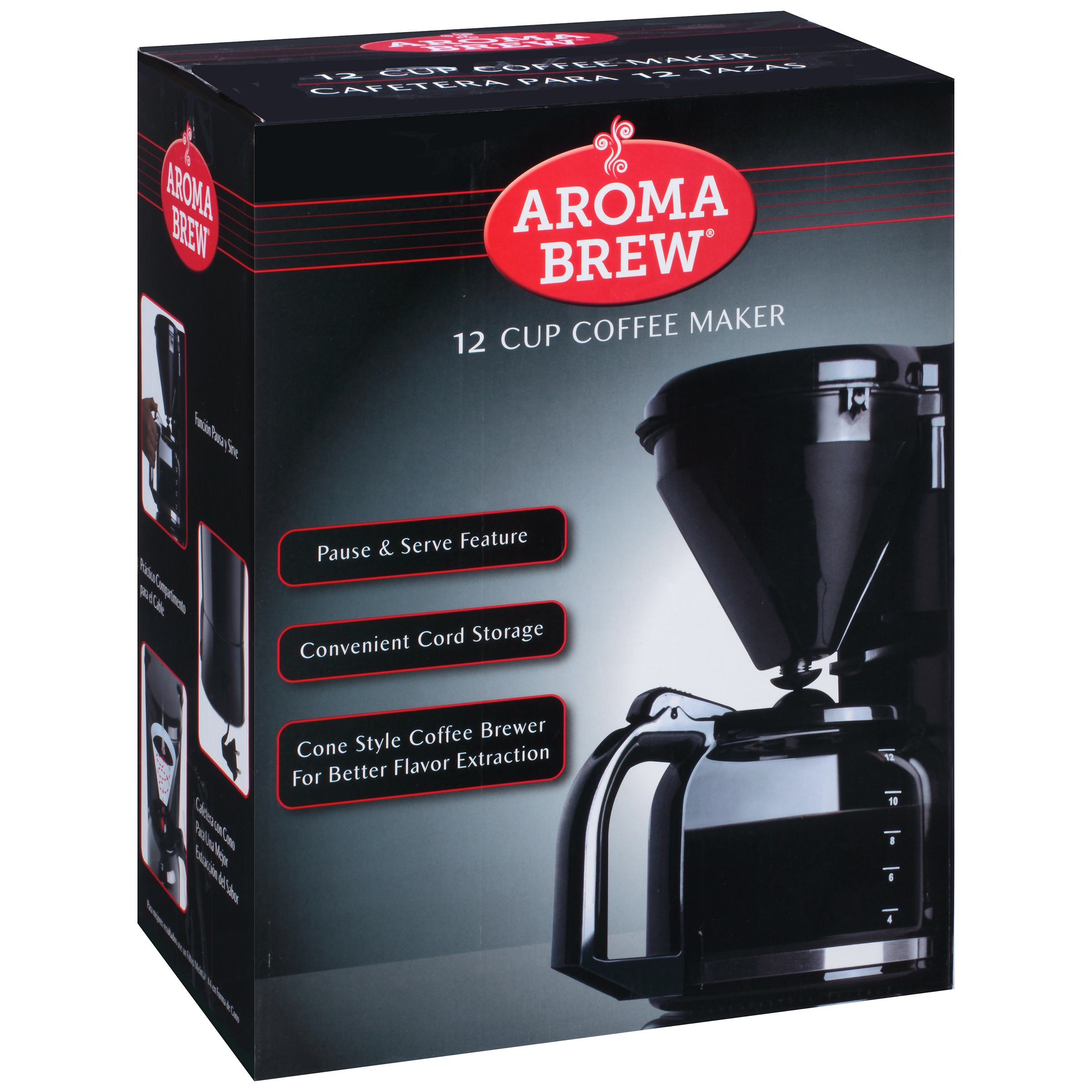 Aroma Brew® Black 12 Cup Coffee Maker Box