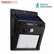 LED Outdoor Solar Motion Lights, Wireless Outdoor Wall Lighting, Water & Weatherproof, Over-Night Security/Exterior Wall Mount Light, Black