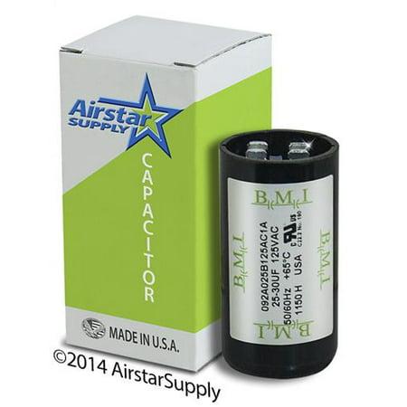 25 30 Uf   Mfd X 110 125 Vac Bmi Start Capacitor   092A025b125ac1a   Made In The Usa