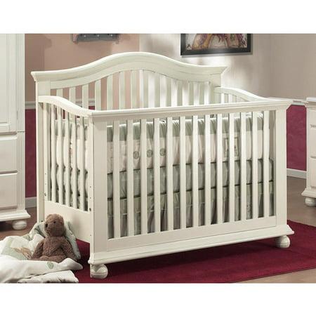 sorelle vista 4 in 1 convertible crib french white. Black Bedroom Furniture Sets. Home Design Ideas
