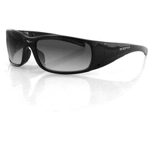 Bobster Gunner Convertible Sunglasses, Black Frame, Photochromic Lenses/Clear Lenses