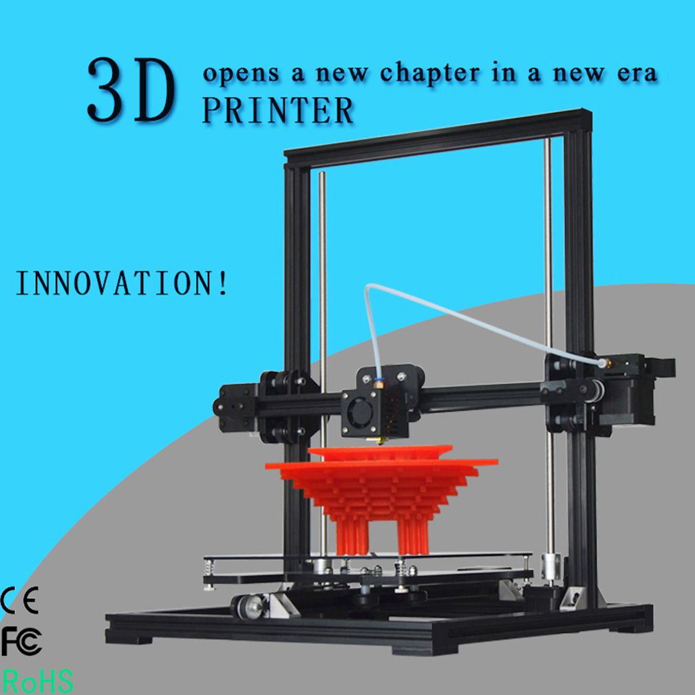 2017 Upgraded  X3 High Precision 3D Printer New System With LCD Display Black