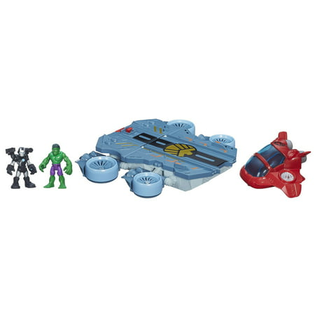 Playskool Heroes Marvel Super Hero Adventures Helicarrier Vehicle with War Machine Figure