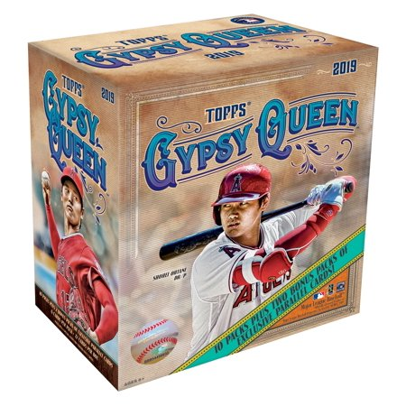 Best Cards Autographed Card - 2019 Topps Gypsy Queen MLB Baseball Monster Box- 10 packs | 2 Bonus Packs | Featuring Green Parallels, Autographs and top MLB Prospects Cards