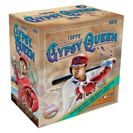 2019 Topps Gypsy Queen MLB Baseball Monster Box- 10 packs | 2 Bonus Packs | Featuring Green Parallels, Autographs and top MLB Prospects