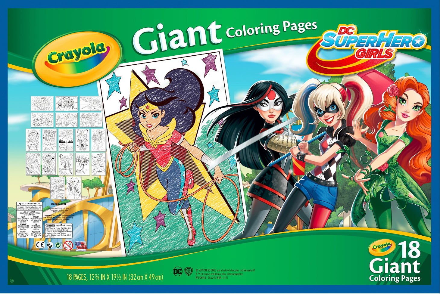 - Crayola Giant Coloring Pages Featuring Dc Girl Superheroes, 18