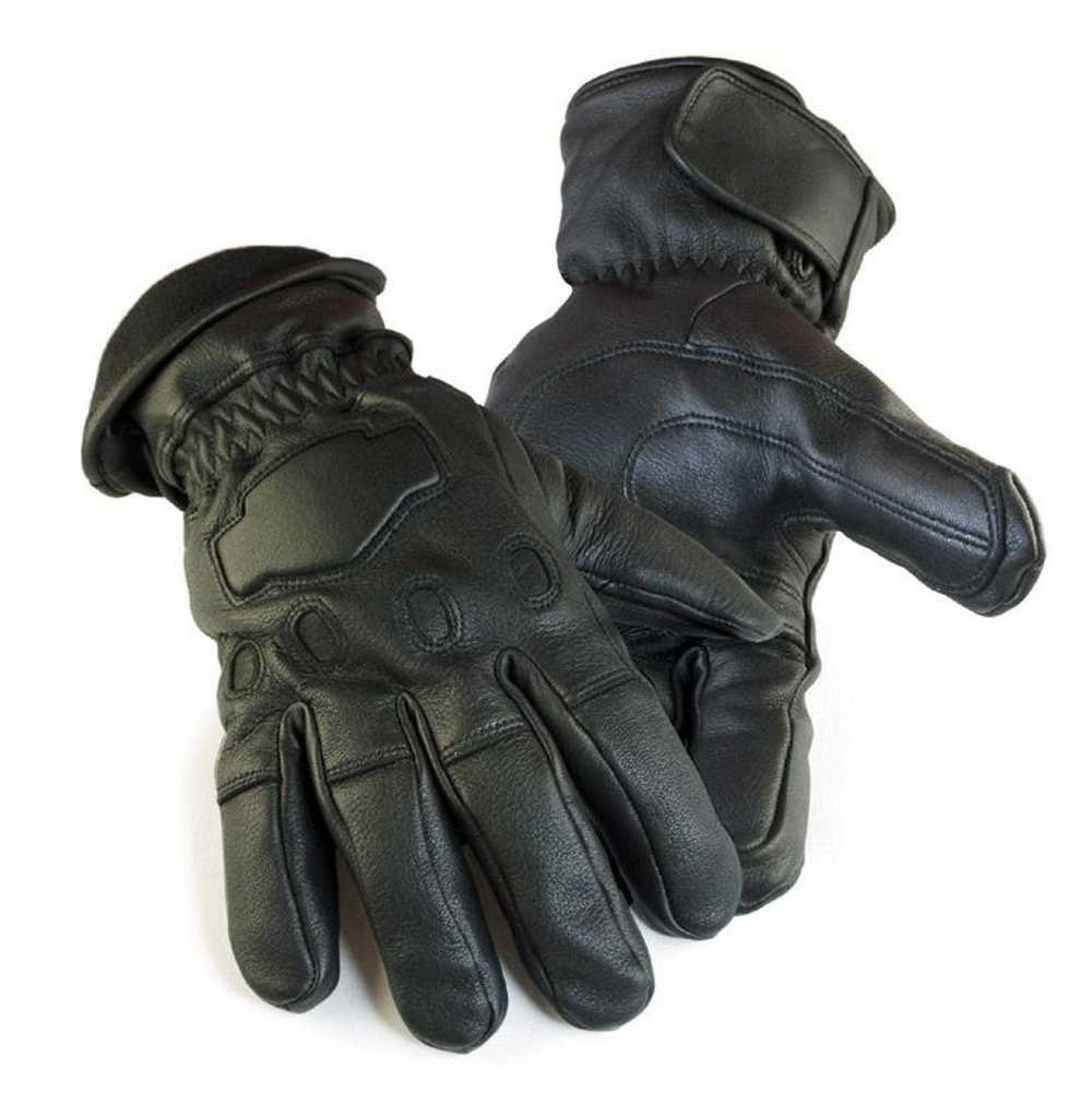 Northstar  Mens Deerskin Gauntlet Cycle Glove Lined 150 gram Thinsulate, 034B