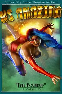 Sexy superheroine in peril