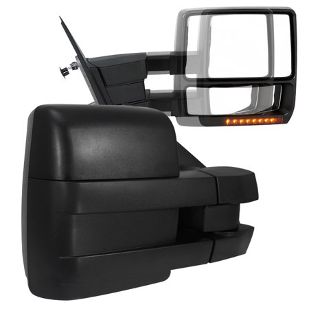 Spec-D Tuning 2007-2014 F150 Power Towing Mirrors W/Led Turn Signal + Puddle Lights Kit 07 08 09 10 11 12 13 14 (Left + - Halloween Town 1 2 And 3