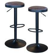 AmeriHome Classic Brown Faux Leather Bar Stool Set by Buffalo Corp