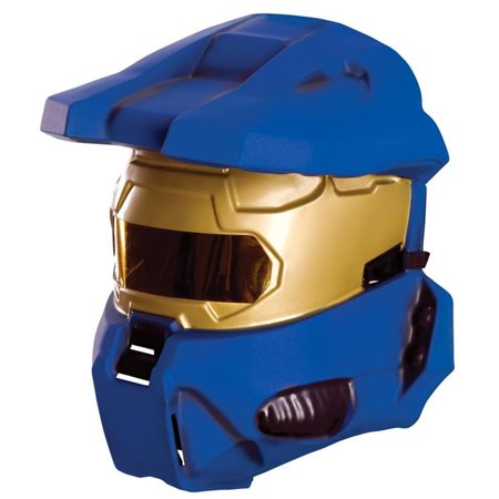 Halo Blue Spartan Costume Half Mask Adult