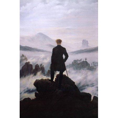 Wanderer Above the Sea of Fog Poster By Caspar David Friedrich - (Wanderer Above The Sea Of Fog Print)