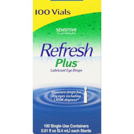 Refresh Plus Lubricant Eye Drops 100 Single Uses Artificial